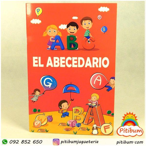 Libro plastificado para aprender a escribir el abecedario