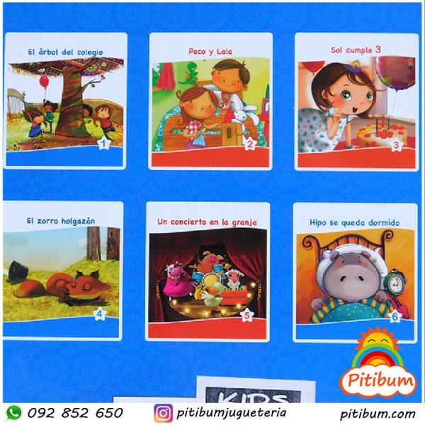 Colección: libros de cuentos infantiles, hojas finas y coloridos