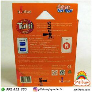 Juego de cartas – Tutti fruti