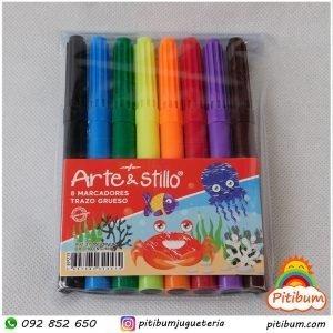 set 8 marcadores arte & stylo