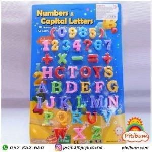 Letras, números y símbolos imantados