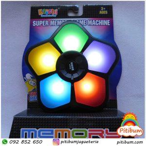Juego electrónico de memoria con 5 botones, luces y sonido