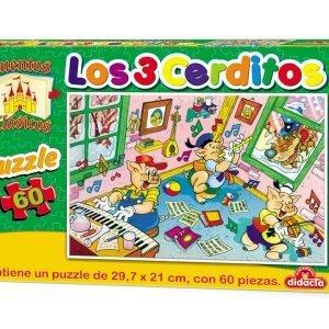 Puzzle 60 piezas – Los 3 cerditos