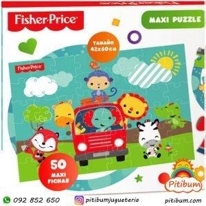Maxi Puzzle Fisher Price con 50 piezas gigantes!