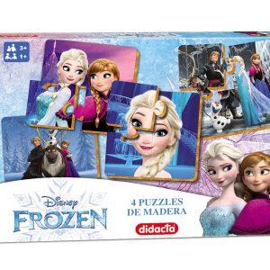 4 puzzles de madera de frozen