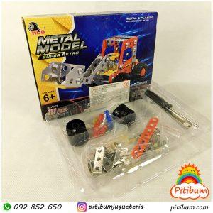 Juego de ingenio y construcción en metal: 111 Piezas pequeñas