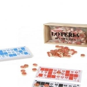 Lotería de Madera con 48 Cartones