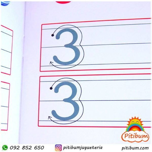 Libro plastificado para aprender a escribir los números