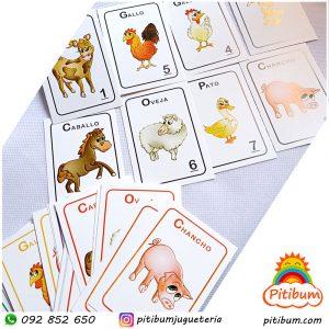 Juego de cartas didácticas: Imita en la granja!