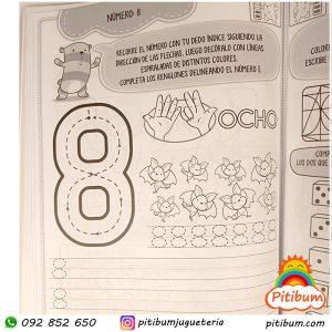 Libro didáctico con actividades: Matemáticas del 1 al 10