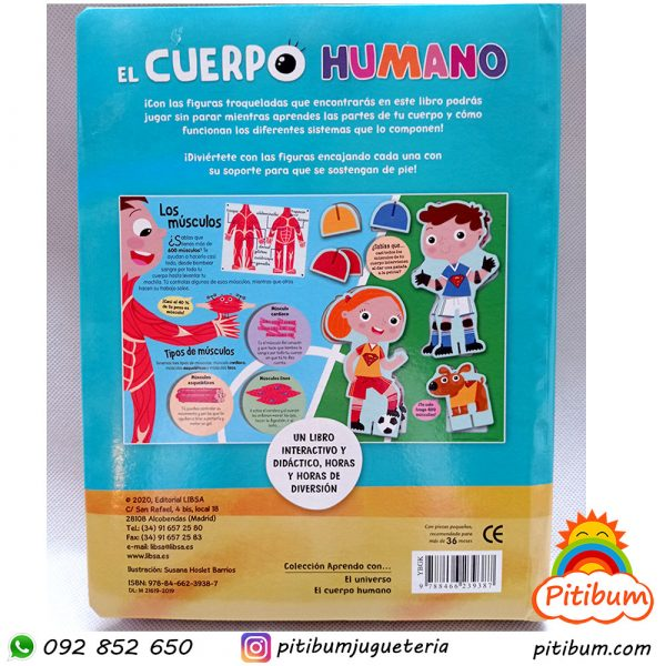 """Libro grande """"El cuerpo humano"""" con piezas"""
