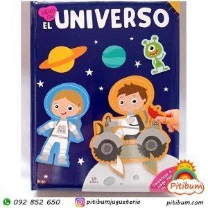 """Libro """"El Universo """" con hojas gruesas y piezas para armar"""