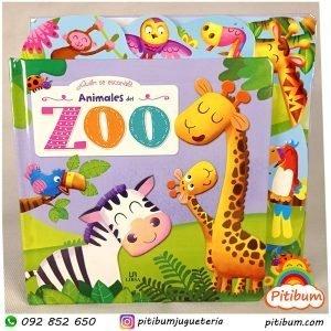Libro de hojas duras: Los Animales del Zoológico / Selva