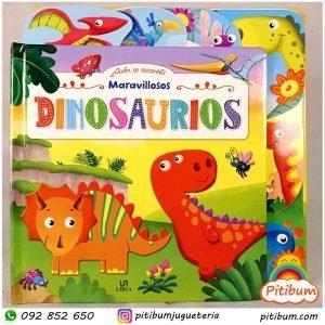 Libro de hojas duras: Los Dinosaurios