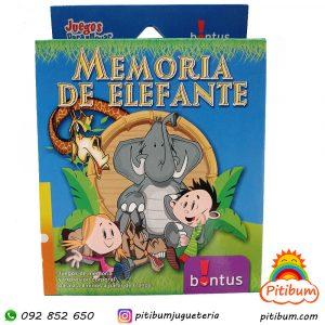 Juego de cartas: Memoria de elefante