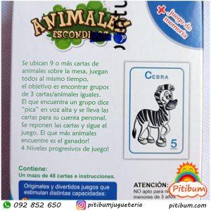 Juego de cartas -Animales escondidos
