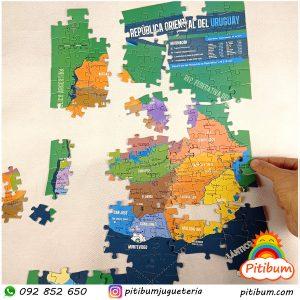 Puzzle Mapa de Uruguay Royal
