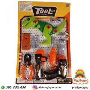 Blister de herramientas con Dinosaurio